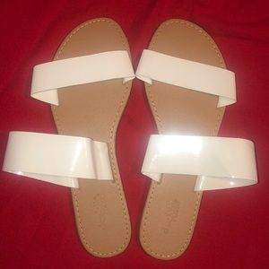 NWOT White Strapped Sandals